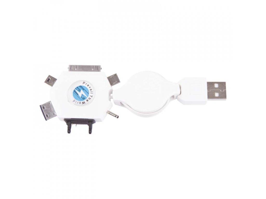 EMOS USB kabel 2.0 A/M - MULTI/M 0,8m SM7043