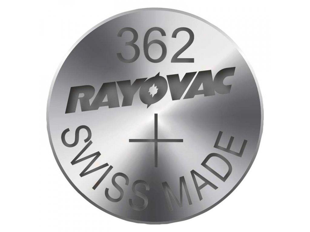 Knoflíková baterie do hodinek RAYOVAC 362