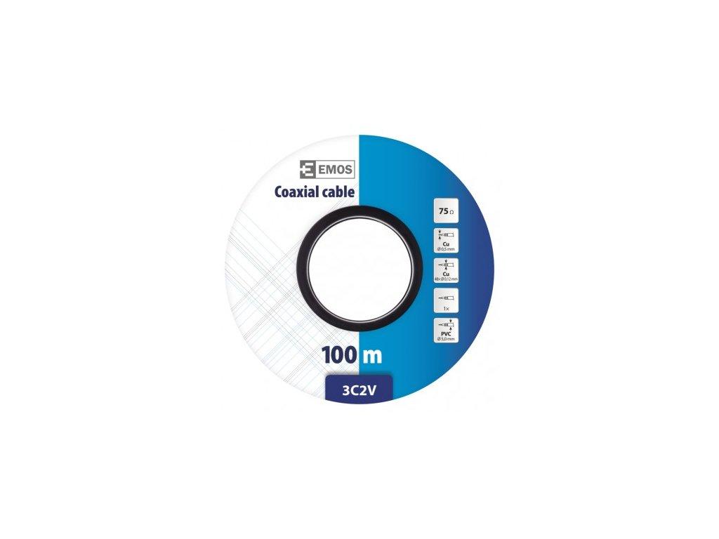 EMOS Koaxiální kabel 3C2V, 100m S5111S