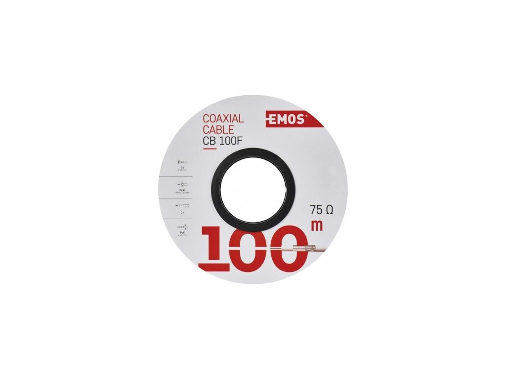 EMOS Koaxiální kabel CB100F, 100m S5141