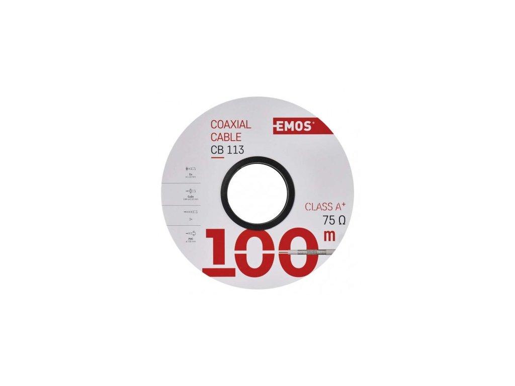 EMOS Koaxiální kabel CB113, 100m S5261