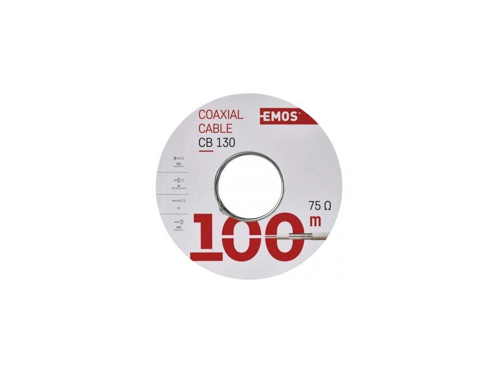 EMOS Koaxiální kabel CB130, 100m S5381