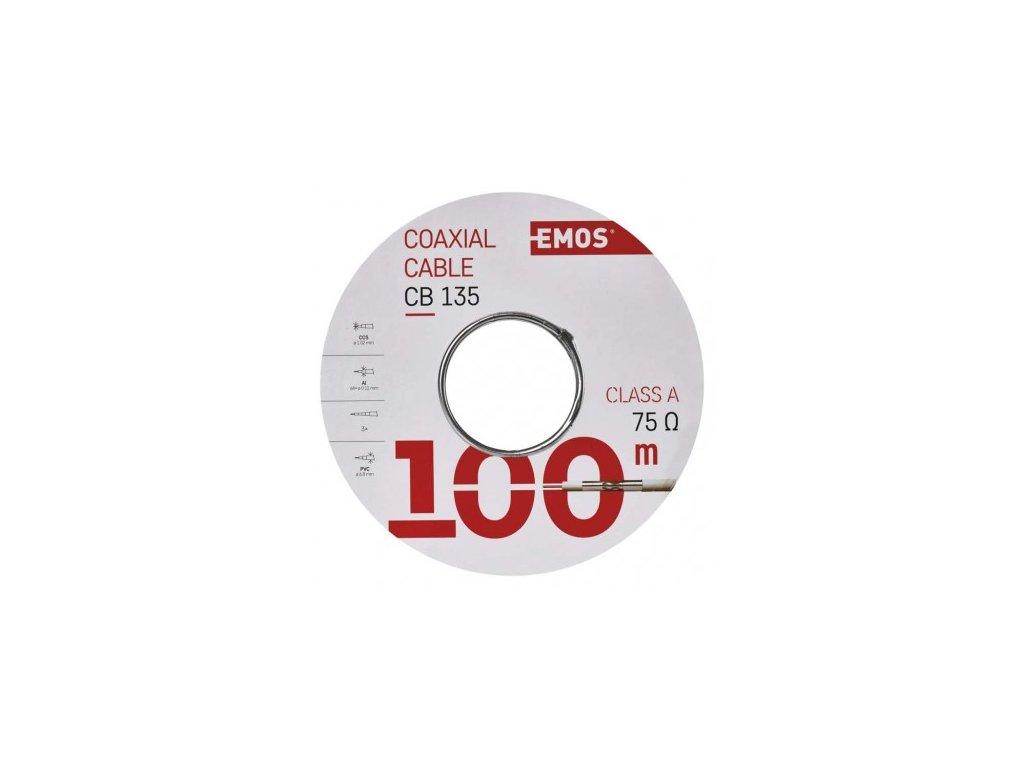 EMOS Koaxiální kabel CB135, 100m S5382