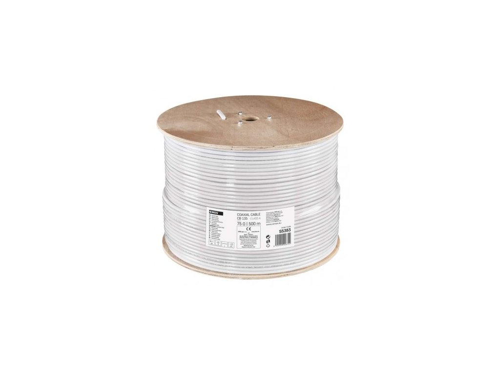 EMOS Koaxiální kabel CB135, 500m S5383