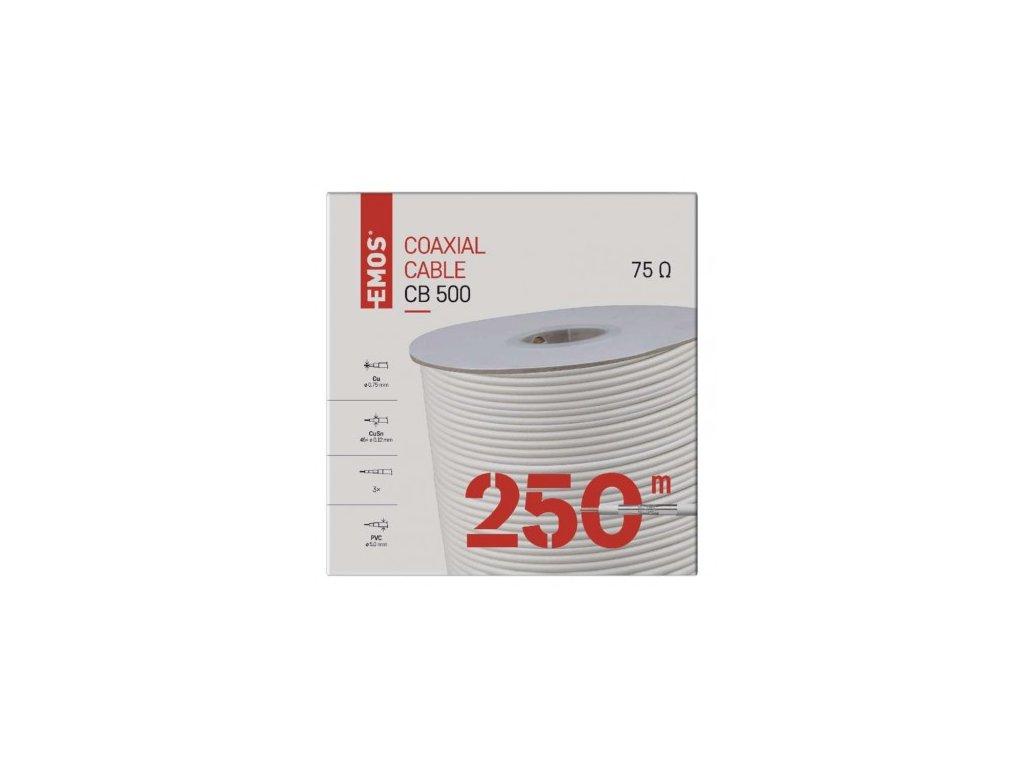 EMOS Koaxiální kabel CB500, 250m S5253