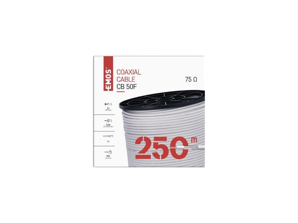 EMOS Koaxiální kabel CB50F, 250m S5231S