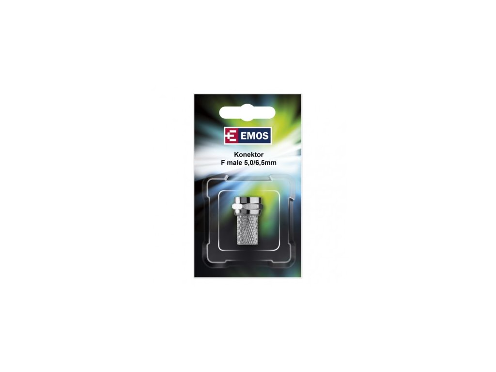 EMOS Konektor F vidlice pro koa× CB50, CB100, 1 ks K7331W