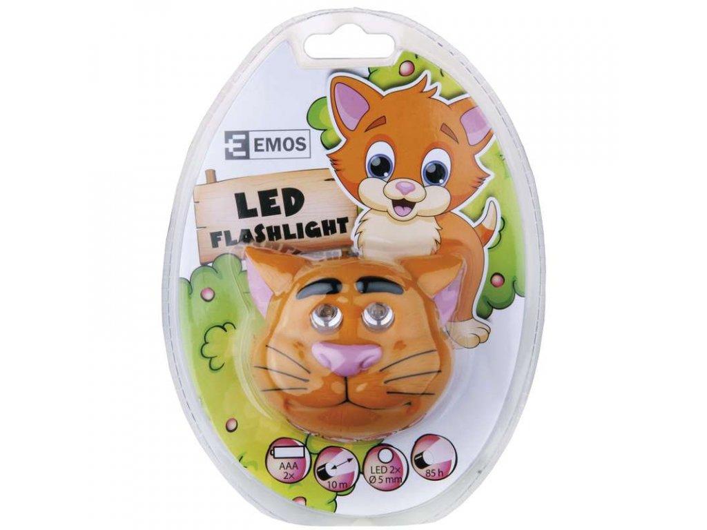 EMOS LED čelovka - kočka P3523