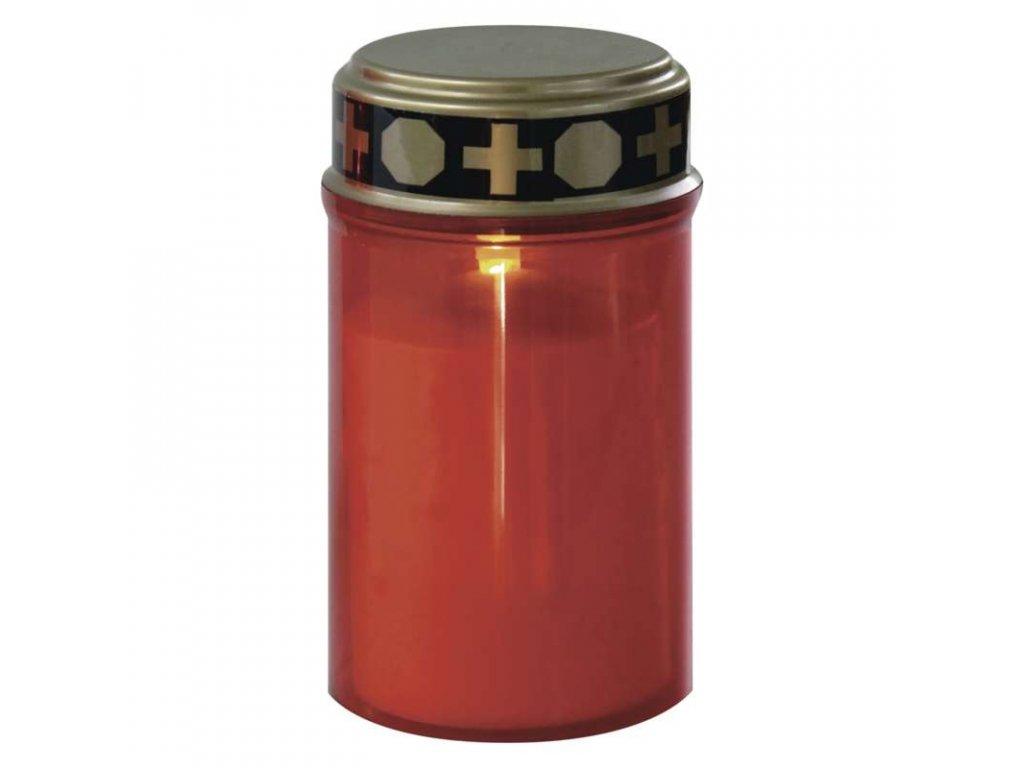 EMOS LED hřbitovní svíčka se senzorem, 2× AA, červená P4607