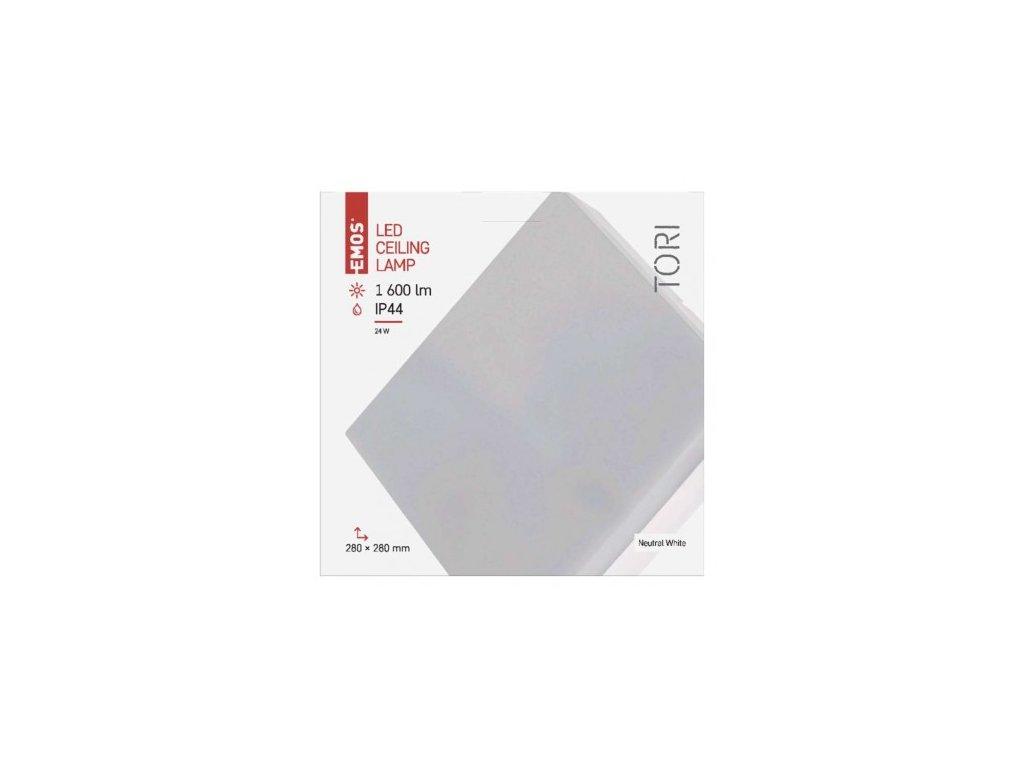 EMOS Lighting LED přisazené svítidlo TORI, čtvercové bílé 24W neutr. b., IP44 ZM4304