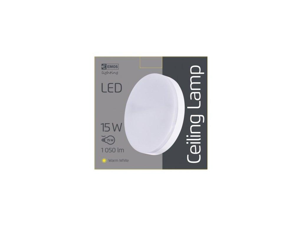 EMOS Lighting LED přisazené svítidlo, kruhové bílé 15W teplá b., IP44 ZM4101