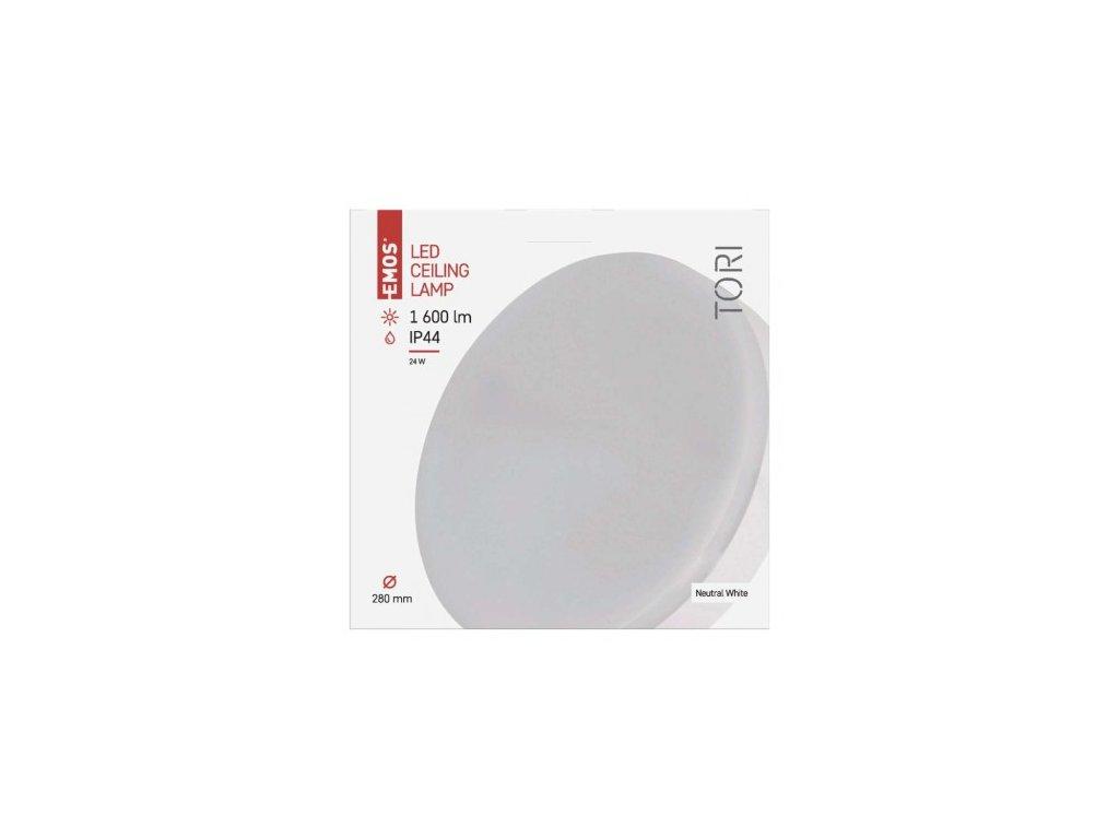 EMOS Lighting LED přisazené svítidlo, kruhové bílé 24W neutrální b., IP44 ZM4302