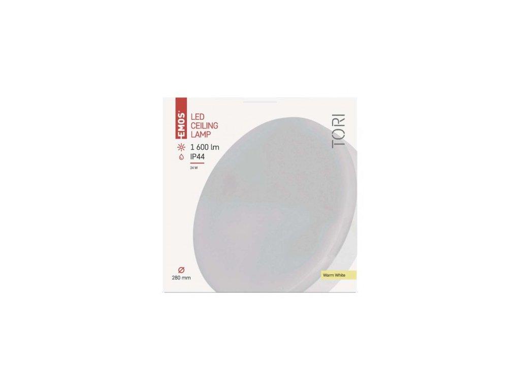 EMOS Lighting LED přisazené svítidlo, kruhové bílé 24W teplá b., IP44 ZM4102