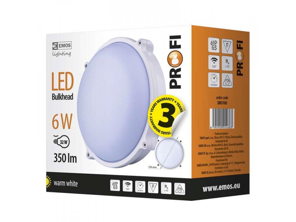 EMOS Lighting LED přisazené svítidlo, kruh 6W teplá bílá ZM3105