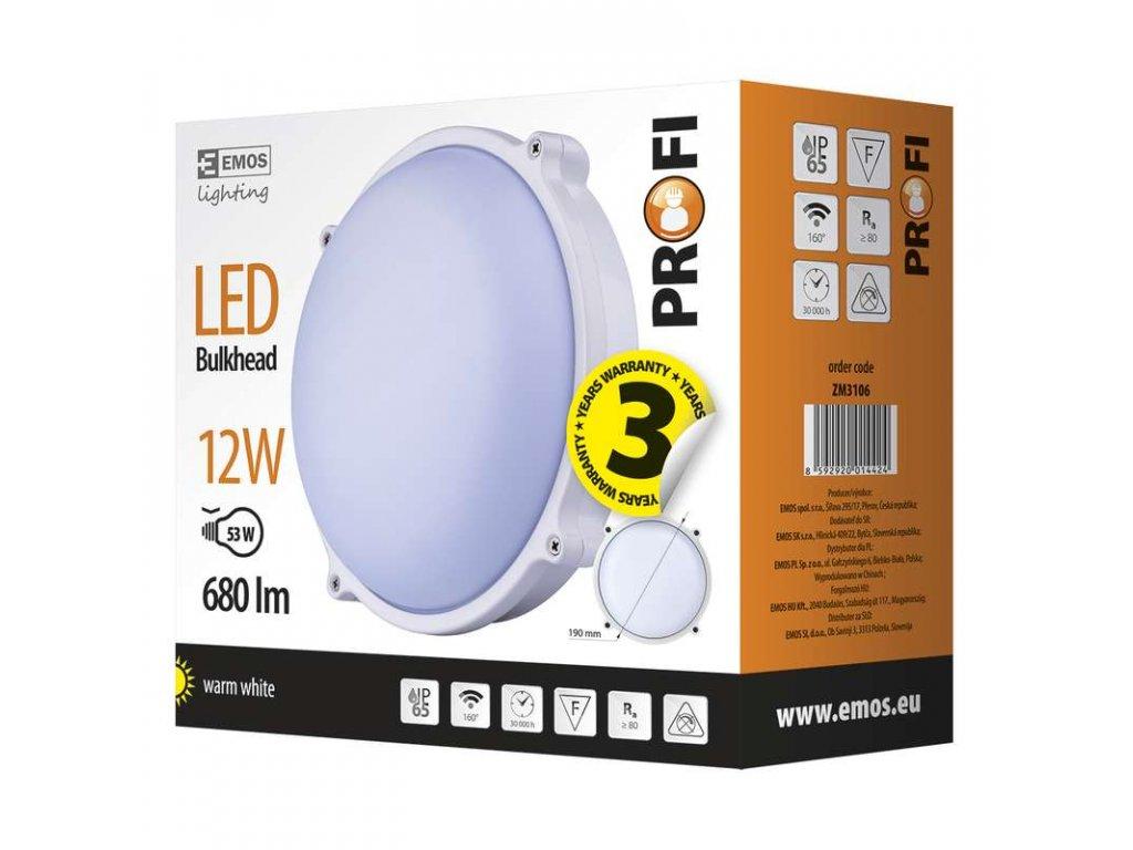 EMOS Lighting LED přisazené svítidlo, kruh 12W teplá bílá ZM3106