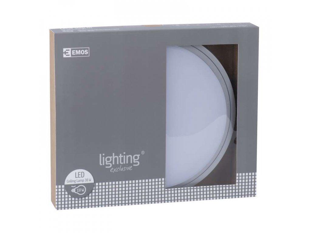EMOS Lighting LED přisazené svítidlo, kruh stříbrná 38W teplá bílá stm. ZM1123