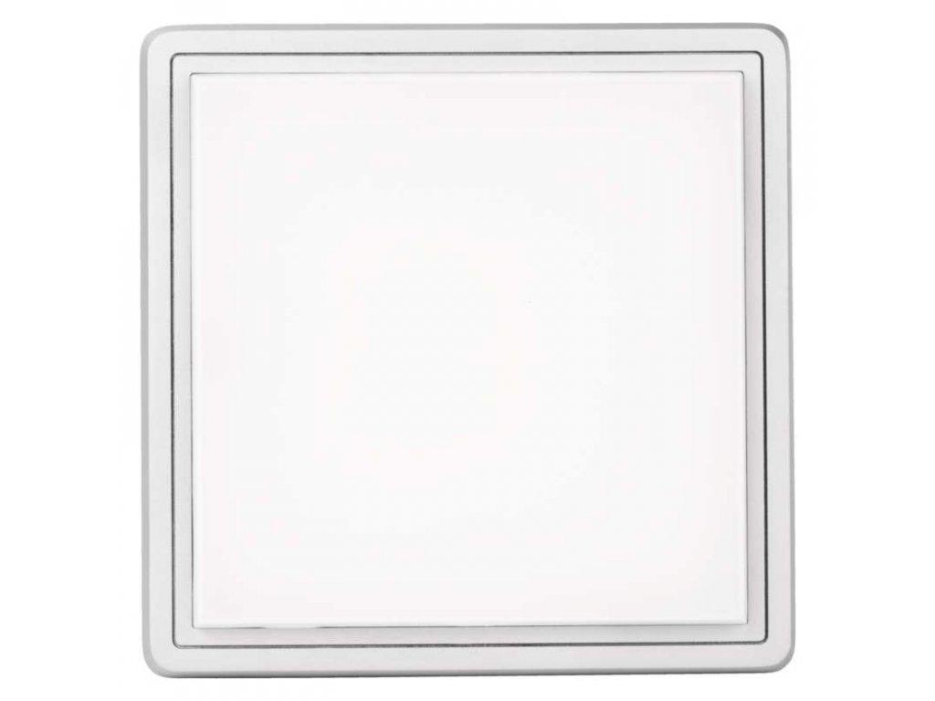 EMOS Lighting LED přisazené svítidlo, čtverec stříbrná 38W teplá bílá stm. ZM1129