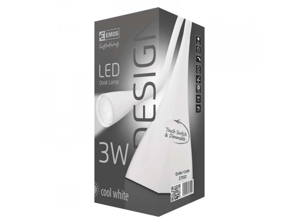 EMOS Lighting LED stolní lampa DEL-1211W bílá Z7552
