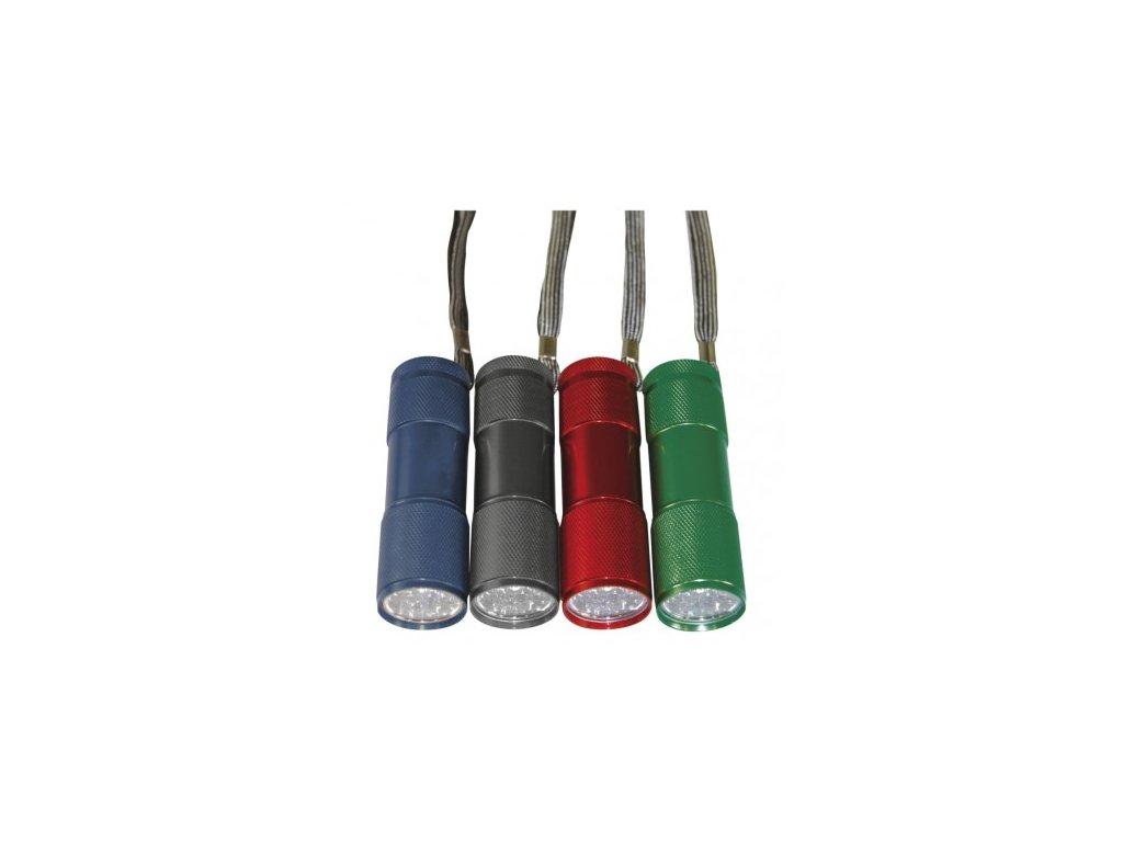 EMOS LED ruční kovová svítilna P3848A, 50 lm, 3× AAA, 24 ks P3848A