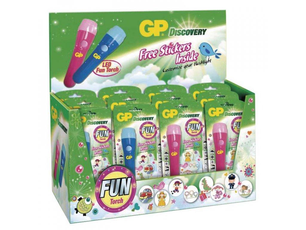 GP Batteries Dětská LED svítilna GP LHE112, 12 ks P8279