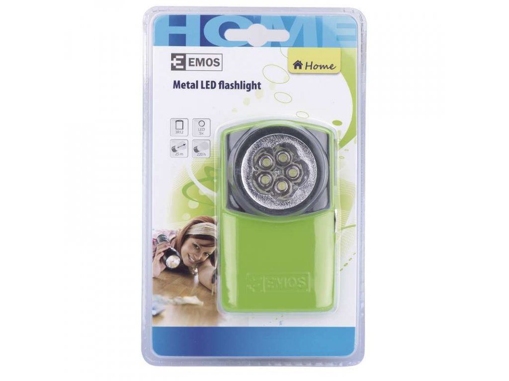 EMOS LED svítilna kovová, 5x LED, na 1x 3R12 P3885