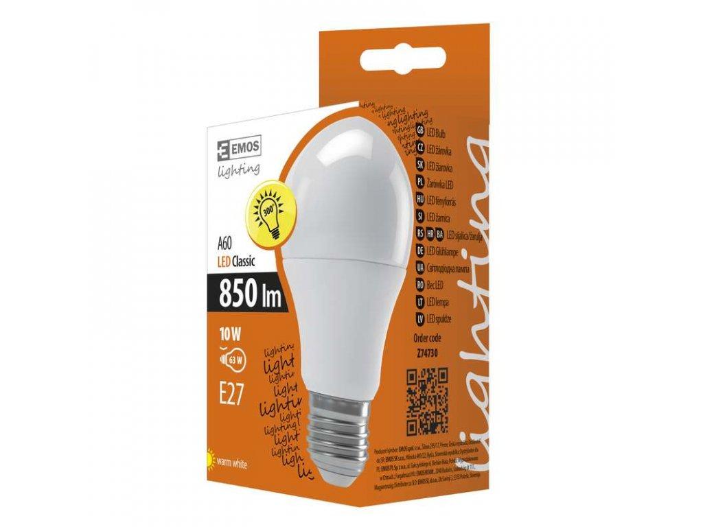 EMOS Lighting LED žárovka Classic A60 10W E27 teplá bílá Z74730