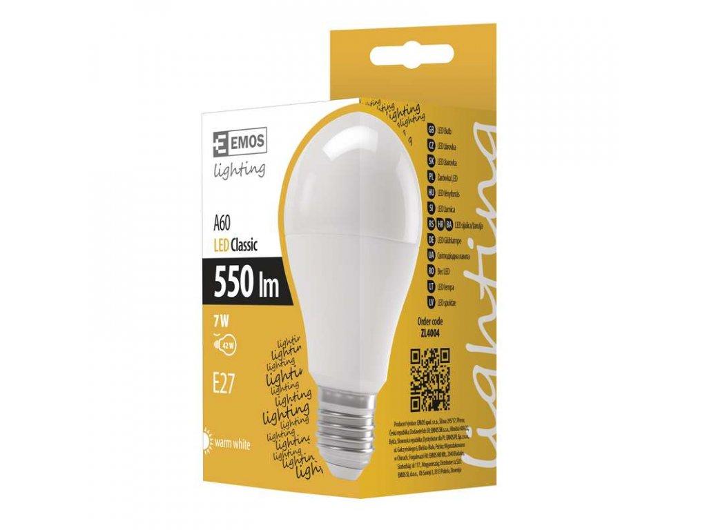 EMOS Lighting LED žárovka A60 7W E27 teplá bílá ZL4004