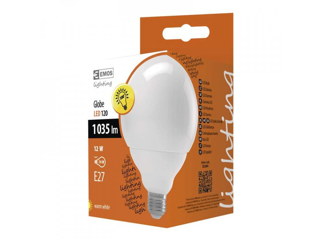 EMOS Lighting LED žárovka Classic Globe 12W E27 teplá bílá ZL3601