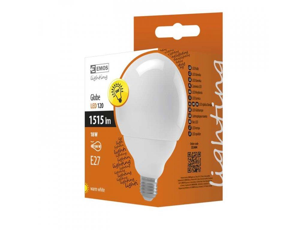 EMOS Lighting LED žárovka Classic Globe 18W E27 teplá bílá ZL3604