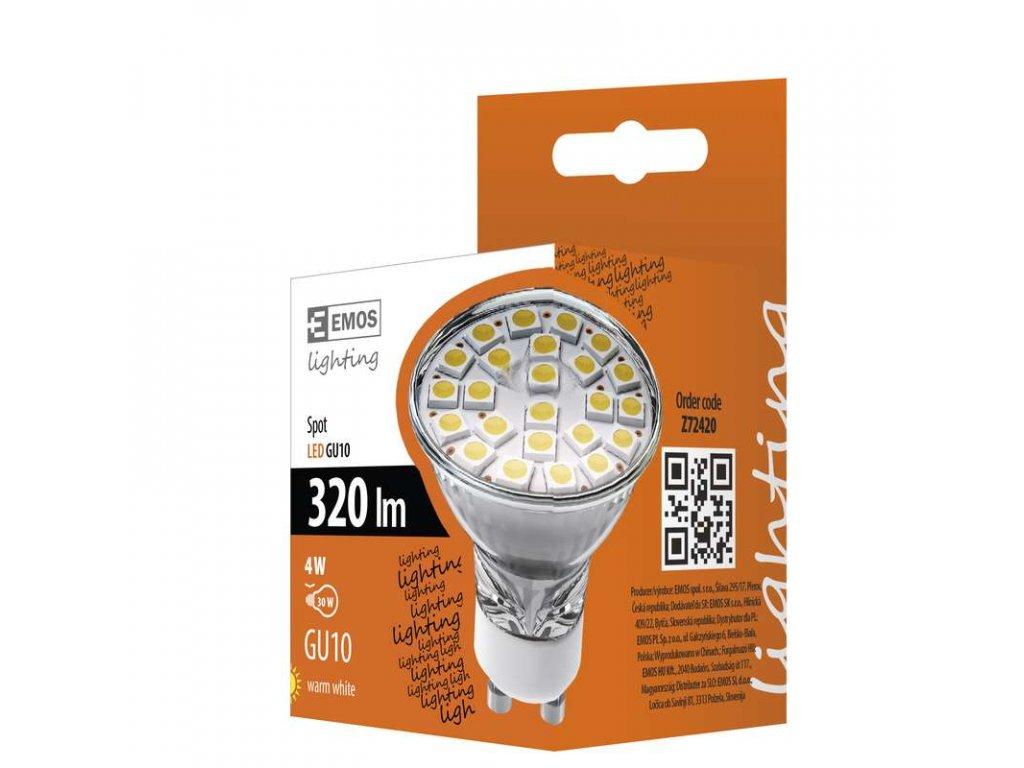 EMOS Lighting LED žárovka Classic MR16 4W GU10 teplá bílá Z72420