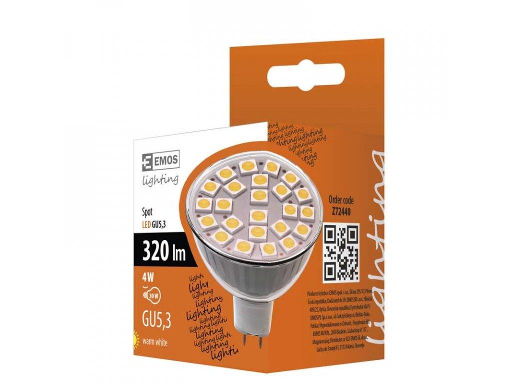 EMOS Lighting LED žárovka Classic MR16 4W GU5,3 teplá bílá Z72440