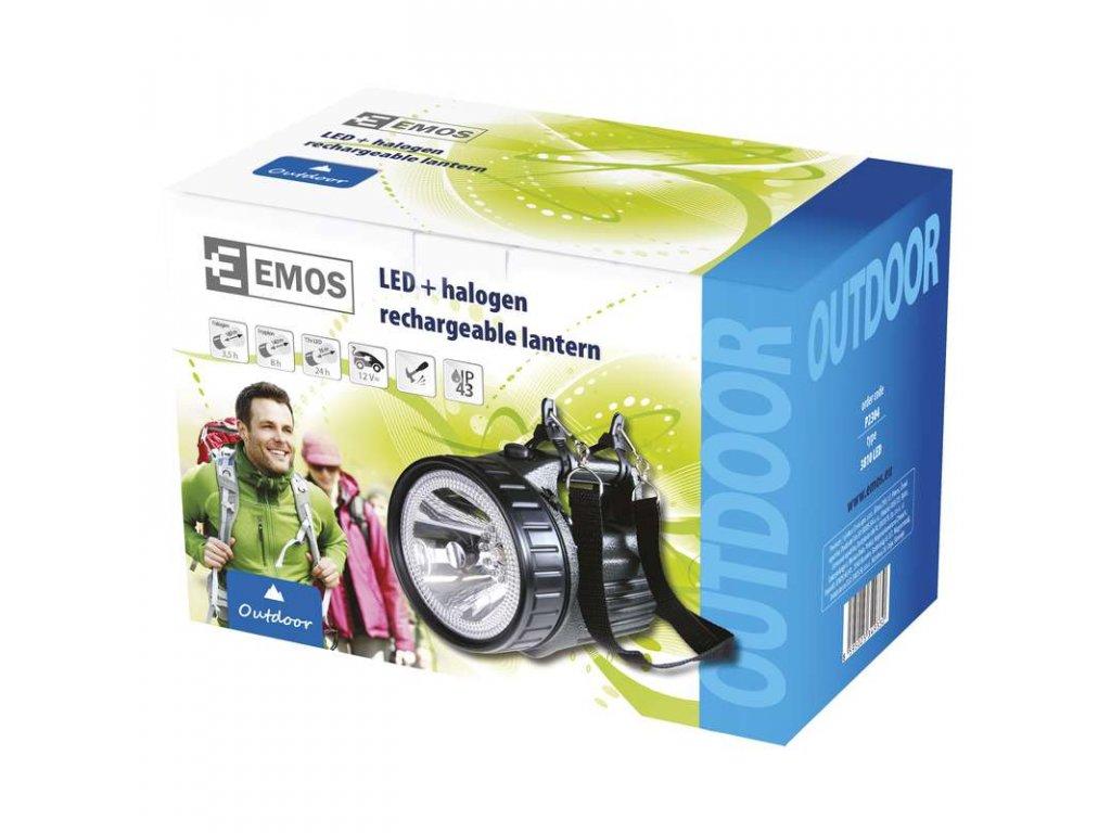 EMOS Nabíjecí svítilna halogenová + 12x LED 3810 P2304
