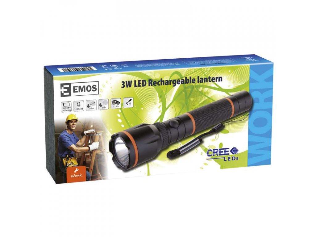 EMOS Nabíjecí svítilna LED E-BRL303, 3W LED CREE P4513