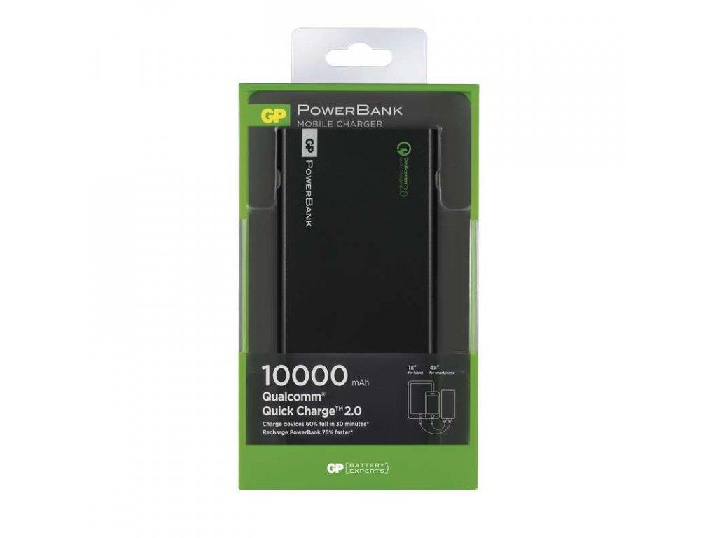 GP Batteries Power bank GP FP10MB 10000mAh černý, QC2.0 B0395B