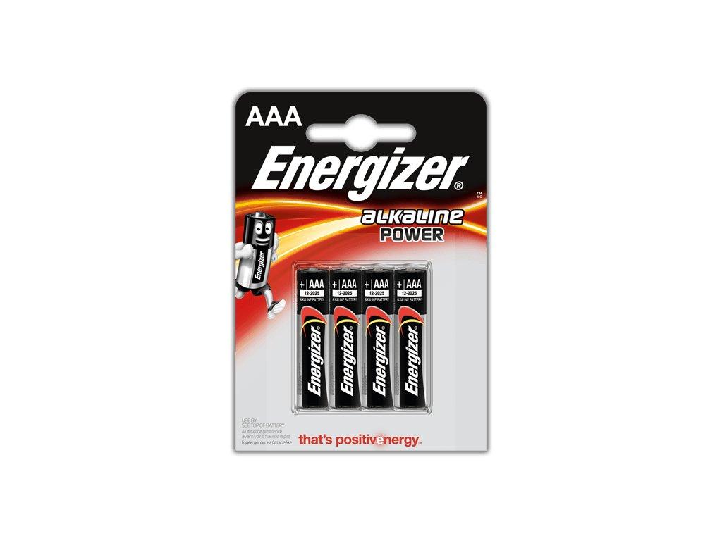 BATERIE ENERGIZER POWER ALKALINE, AAA LR03 4ks
