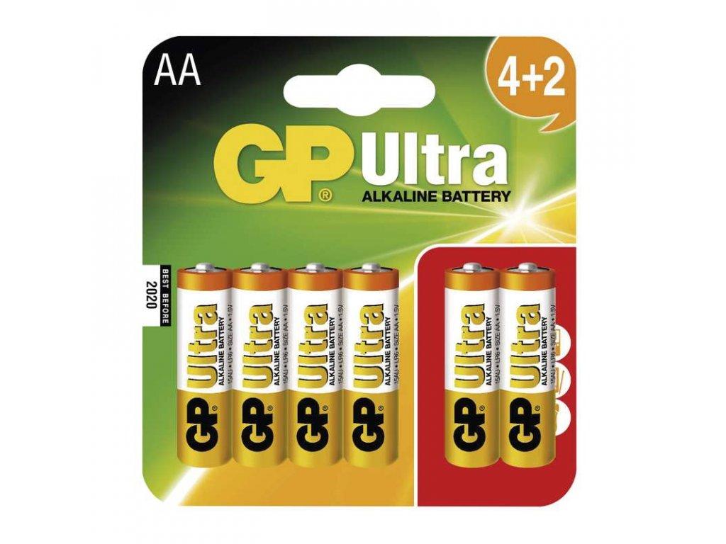 GP Batteries Baterie GP Ultra Alkaline LR6 (AA), 4+ 2 blistr B1921MM