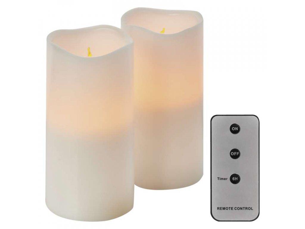 EMOS Lighting LED dekorace – 2× svíčka, 2× 3×AAA, ovladač, časovač ZY2144