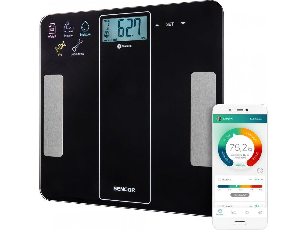 Sencor osobní váha SBS 8000BK černá