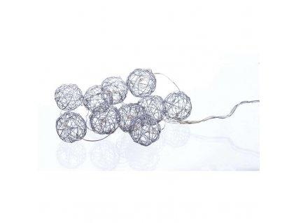 EMOS Lighting LED girlanda - stříbrné koule, 1m, teplá bílá ZY1415