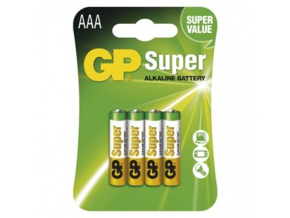 GP Batteries Alkalická baterie GP Super AAA (LR03) B1311