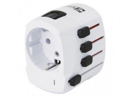 EMOS Cestovní univerzální adaptér do zahraničí (Ame.,Asie,Afrika) P0056