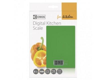 EMOS Digitální kuchyňská váha TY3101G, zelená EV014G