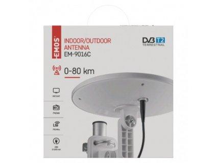 Venkovní anténa EMOS EM-9016C, 0–80 km DVB-T2