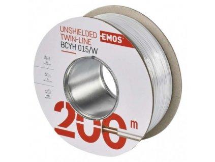 EMOS Dvojlinka nestíněná 2x0,15mm bílá, 200m S8131
