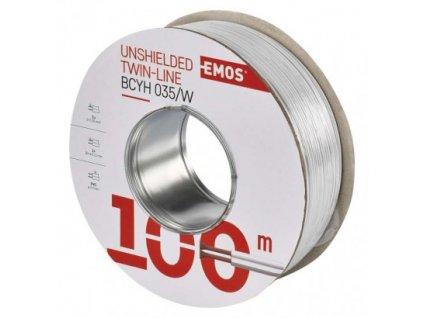 EMOS Dvojlinka nestíněná 2x0,35mm bílá, 100m S8231