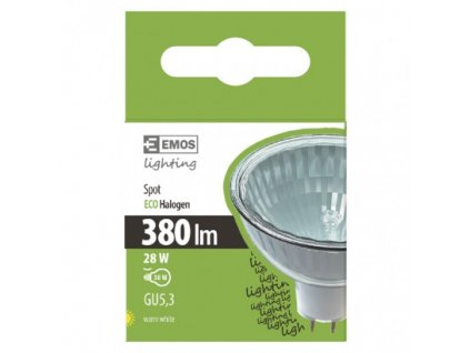 EMOS Lighting Halogenová žárovka MR16 28W GU5,3 teplá bílá, stmívatelná ZE1302