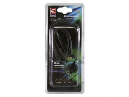 EMOS Kabel JACK 3,5mm stereo, vidlice - 3,5mm vidlice 3m SB5003