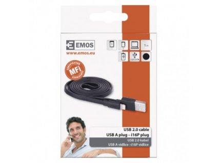 EMOS USB kabel 2.0 A/M -  i16P/M 1m černý SM7013BL