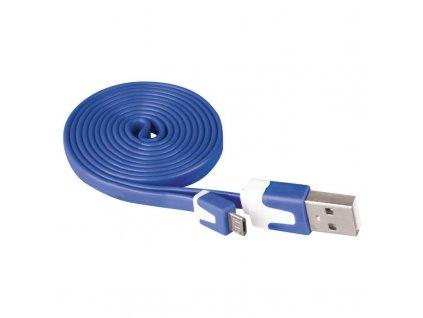 EMOS USB kabel 2.0 A/M - micro B/M 1m modrý SM7001B