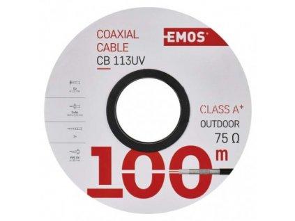 EMOS Koaxiální kabel CB113UV, 100m S5265